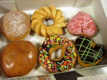 Пончики в Krispy Kreme