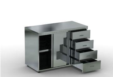 Стол-тумба с выдвижными ящиками