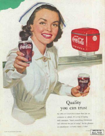Старая реклама Coca-Cola