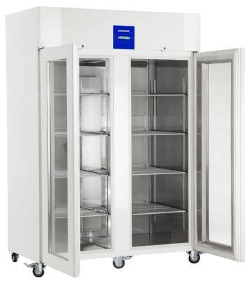 Двойной морозильный шкаф со стеклянной дверью
