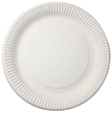 Белая бумажная тарелка