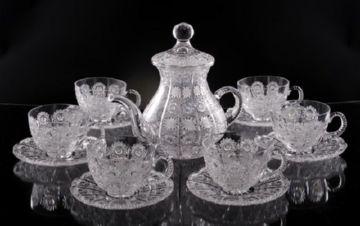 Хрустальный чайный набор