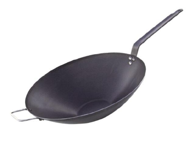 Сковорода из голубой стали